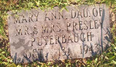 PUTERBAUGH, MARY ANN - Dallas County, Arkansas | MARY ANN PUTERBAUGH - Arkansas Gravestone Photos