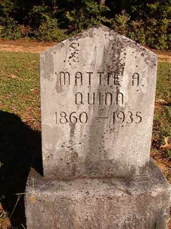 QUINN, MATTIE A - Dallas County, Arkansas | MATTIE A QUINN - Arkansas Gravestone Photos
