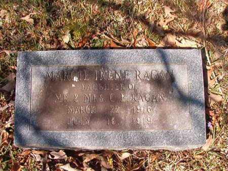 RAGAN, MARGIE IRENE - Dallas County, Arkansas   MARGIE IRENE RAGAN - Arkansas Gravestone Photos