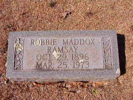 RAMSAY, ROBBIE MADDOX - Dallas County, Arkansas | ROBBIE MADDOX RAMSAY - Arkansas Gravestone Photos