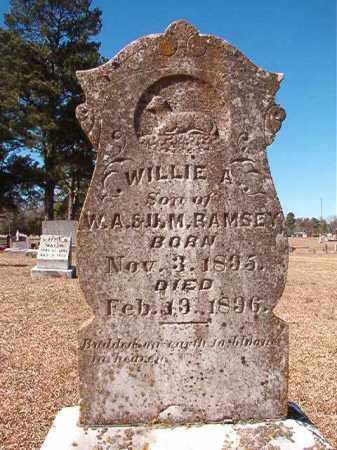 RAMSEY, WILLIE A - Dallas County, Arkansas | WILLIE A RAMSEY - Arkansas Gravestone Photos