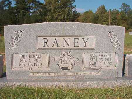 RANEY, OMA AMANDA - Dallas County, Arkansas | OMA AMANDA RANEY - Arkansas Gravestone Photos