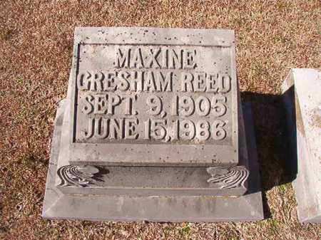 GRESHAM REED, MAXINE - Dallas County, Arkansas | MAXINE GRESHAM REED - Arkansas Gravestone Photos