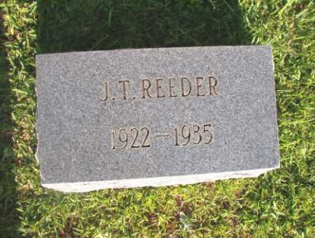 REEDER, J T - Dallas County, Arkansas | J T REEDER - Arkansas Gravestone Photos