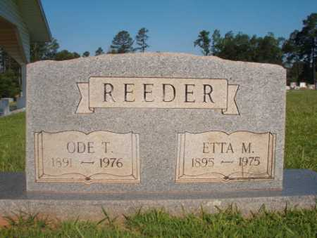 REEDER, ETTA M - Dallas County, Arkansas | ETTA M REEDER - Arkansas Gravestone Photos