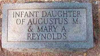 REYNOLDS, INFANT DAUGHTER - Dallas County, Arkansas | INFANT DAUGHTER REYNOLDS - Arkansas Gravestone Photos