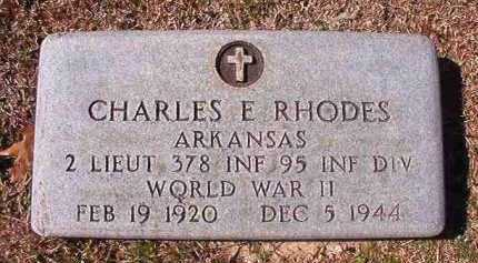 RHODES (VETERAN WWII), CHARLES E - Dallas County, Arkansas | CHARLES E RHODES (VETERAN WWII) - Arkansas Gravestone Photos