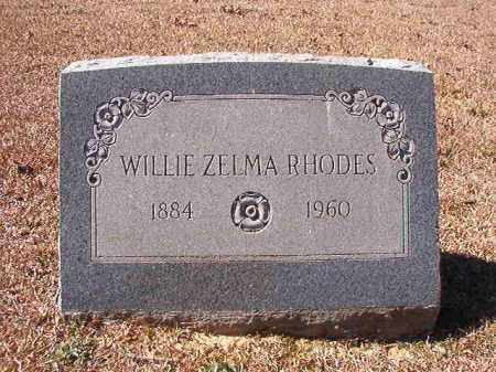 RHODES, WILLIE ZELMA - Dallas County, Arkansas | WILLIE ZELMA RHODES - Arkansas Gravestone Photos