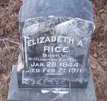 RICE, ELIZABETH A - Dallas County, Arkansas | ELIZABETH A RICE - Arkansas Gravestone Photos
