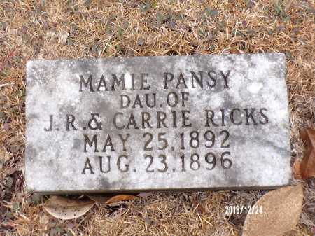 RICKS, MAMIE PANSY - Dallas County, Arkansas | MAMIE PANSY RICKS - Arkansas Gravestone Photos