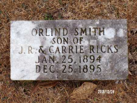 RICKS, ORLIND SMITH - Dallas County, Arkansas | ORLIND SMITH RICKS - Arkansas Gravestone Photos