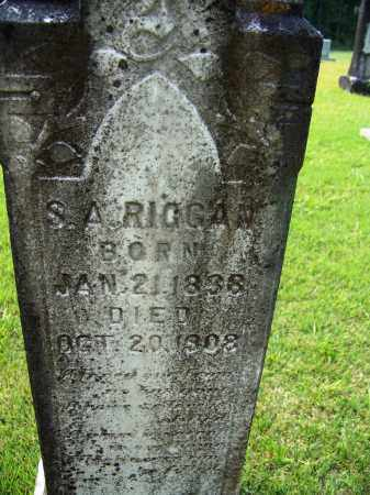 RIGGAN, S A - Dallas County, Arkansas | S A RIGGAN - Arkansas Gravestone Photos