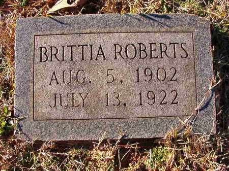 ROBERTS, BRITTIA - Dallas County, Arkansas | BRITTIA ROBERTS - Arkansas Gravestone Photos