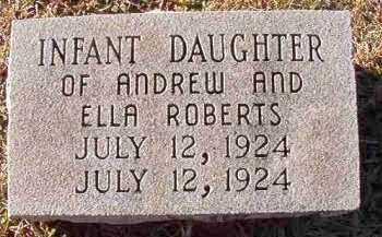ROBERTS, INFANT DAUGHTER - Dallas County, Arkansas | INFANT DAUGHTER ROBERTS - Arkansas Gravestone Photos