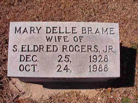 BRAME ROGERS, MARY DELLE - Dallas County, Arkansas | MARY DELLE BRAME ROGERS - Arkansas Gravestone Photos