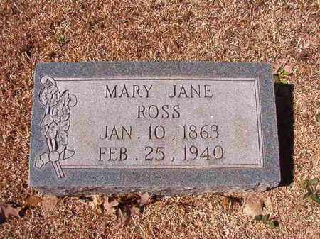 ROSS, MARY JANE - Dallas County, Arkansas | MARY JANE ROSS - Arkansas Gravestone Photos