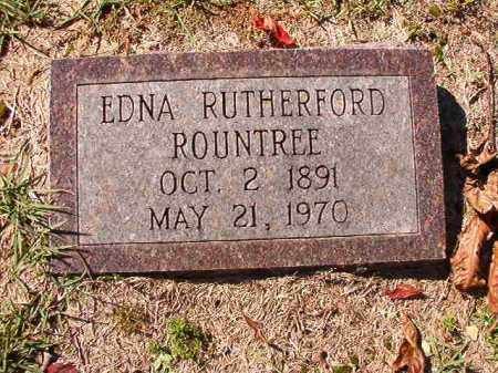 RUTHERFORD ROUNTREE, EDNA - Dallas County, Arkansas | EDNA RUTHERFORD ROUNTREE - Arkansas Gravestone Photos