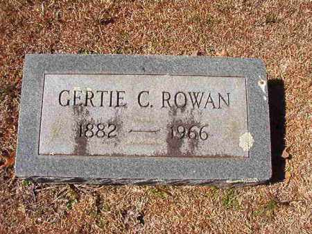 ROWAN, GERTIE C - Dallas County, Arkansas | GERTIE C ROWAN - Arkansas Gravestone Photos
