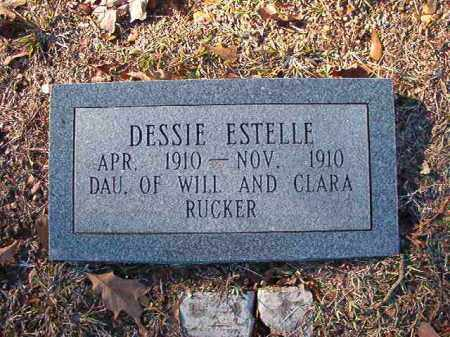 RUCKER, DESSIE ESTELLE - Dallas County, Arkansas | DESSIE ESTELLE RUCKER - Arkansas Gravestone Photos