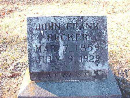 RUCKER, JOHN FRANK - Dallas County, Arkansas | JOHN FRANK RUCKER - Arkansas Gravestone Photos