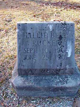 RUCKER, LILLIE BELL - Dallas County, Arkansas | LILLIE BELL RUCKER - Arkansas Gravestone Photos