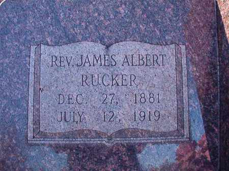 RUCKER, REV., JAMES ALBERT - Dallas County, Arkansas | JAMES ALBERT RUCKER, REV. - Arkansas Gravestone Photos