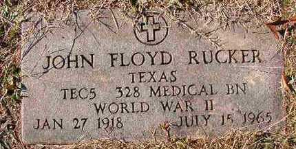 RUCKER (VETERAN WWII), JOHN FLOYD - Dallas County, Arkansas | JOHN FLOYD RUCKER (VETERAN WWII) - Arkansas Gravestone Photos