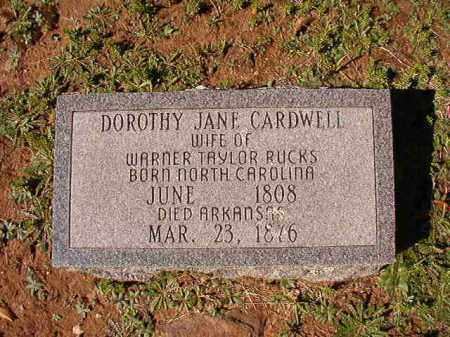 CARDWELL RUCKS, DOROTHY JANE - Dallas County, Arkansas | DOROTHY JANE CARDWELL RUCKS - Arkansas Gravestone Photos