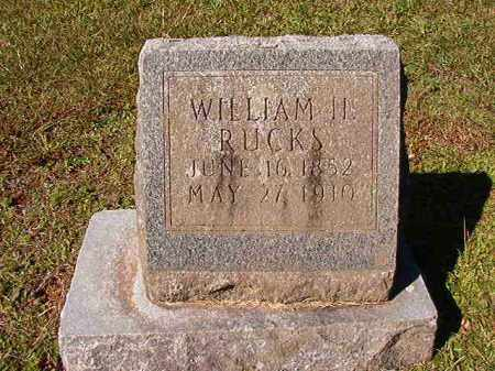 RUCKS, WILLIAM H - Dallas County, Arkansas | WILLIAM H RUCKS - Arkansas Gravestone Photos