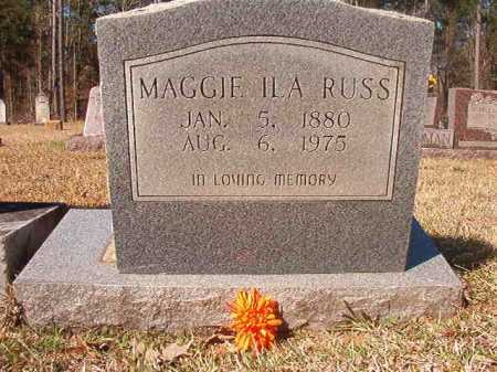 RUSS, MAGGIE ILA - Dallas County, Arkansas | MAGGIE ILA RUSS - Arkansas Gravestone Photos