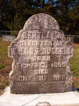 RUSSELL, BERTHA M - Dallas County, Arkansas   BERTHA M RUSSELL - Arkansas Gravestone Photos