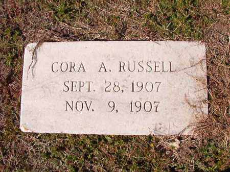 RUSSELL, CORA A - Dallas County, Arkansas | CORA A RUSSELL - Arkansas Gravestone Photos