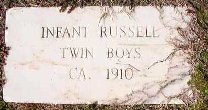 RUSSELL, INFANT TWIN SONS - Dallas County, Arkansas | INFANT TWIN SONS RUSSELL - Arkansas Gravestone Photos