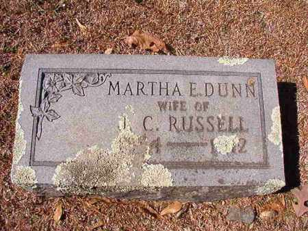 DUNN RUSSELL, MARTHA E - Dallas County, Arkansas | MARTHA E DUNN RUSSELL - Arkansas Gravestone Photos