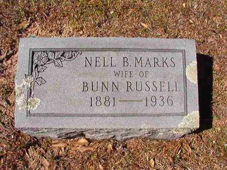 MARKS RUSSELL, NELL B - Dallas County, Arkansas | NELL B MARKS RUSSELL - Arkansas Gravestone Photos