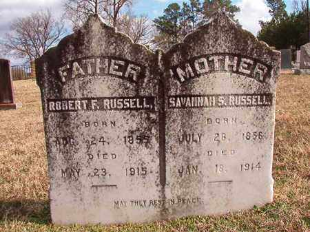 RUSSELL, SAVANNAH S - Dallas County, Arkansas | SAVANNAH S RUSSELL - Arkansas Gravestone Photos