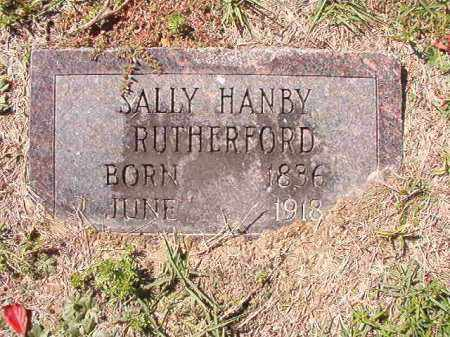 HANBY RUTHERFORD, SALLY - Dallas County, Arkansas | SALLY HANBY RUTHERFORD - Arkansas Gravestone Photos