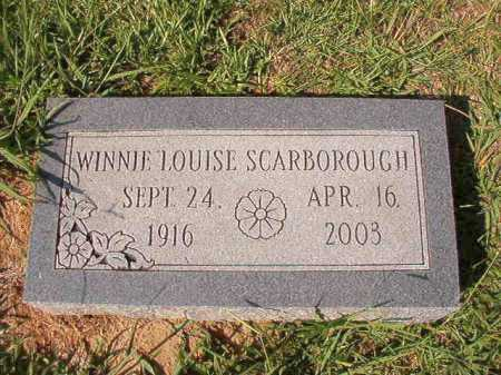 SCARBOROUGH, WINNIE LOUISE - Dallas County, Arkansas | WINNIE LOUISE SCARBOROUGH - Arkansas Gravestone Photos