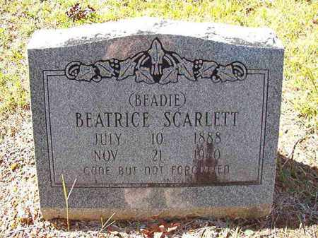 SCARLETT, BEATRICE (BEADIE) - Dallas County, Arkansas | BEATRICE (BEADIE) SCARLETT - Arkansas Gravestone Photos