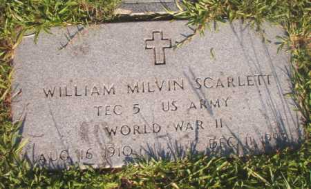 SCARLETT (VETERAN WWII), WILLIAM MILVIN - Dallas County, Arkansas | WILLIAM MILVIN SCARLETT (VETERAN WWII) - Arkansas Gravestone Photos