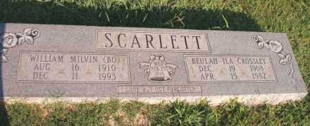 SCARLETT, WILLIAM MILVIN (BO) - Dallas County, Arkansas | WILLIAM MILVIN (BO) SCARLETT - Arkansas Gravestone Photos