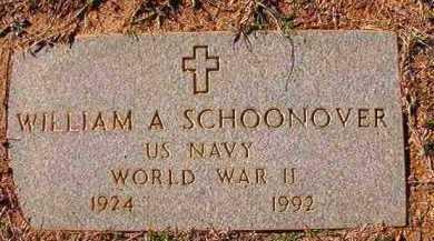 SCHOONOVER (VETERAN WWII), WILLIAM A - Dallas County, Arkansas | WILLIAM A SCHOONOVER (VETERAN WWII) - Arkansas Gravestone Photos
