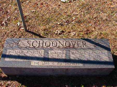SCHOONOVER, WILLIAM A (BILL) - Dallas County, Arkansas | WILLIAM A (BILL) SCHOONOVER - Arkansas Gravestone Photos