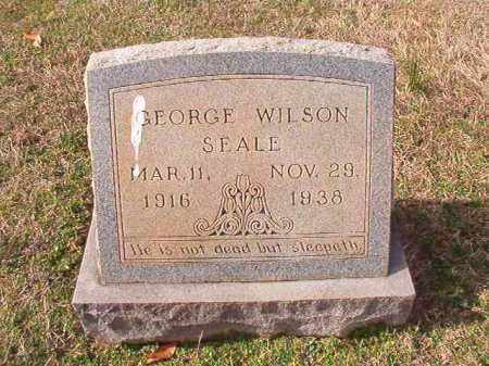 SEALE, GEORGE WILSON - Dallas County, Arkansas | GEORGE WILSON SEALE - Arkansas Gravestone Photos