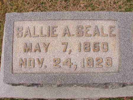 SEALE, SALLIE A - Dallas County, Arkansas | SALLIE A SEALE - Arkansas Gravestone Photos