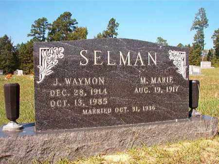 SELMAN, J WAYMON - Dallas County, Arkansas | J WAYMON SELMAN - Arkansas Gravestone Photos