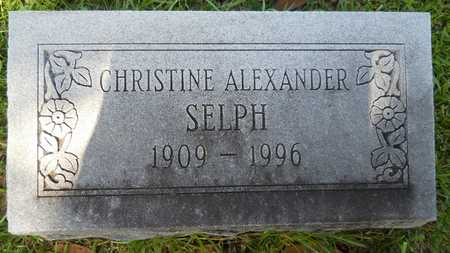 ALEXANDER SELPH, CHRISTINE - Dallas County, Arkansas | CHRISTINE ALEXANDER SELPH - Arkansas Gravestone Photos