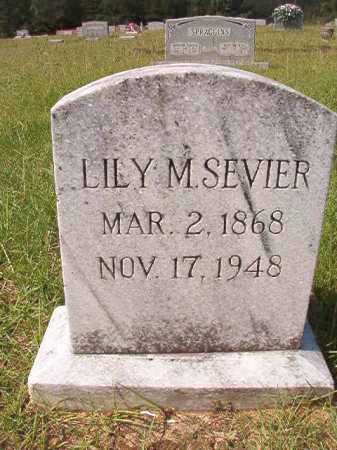SEVIER, LILY M - Dallas County, Arkansas | LILY M SEVIER - Arkansas Gravestone Photos