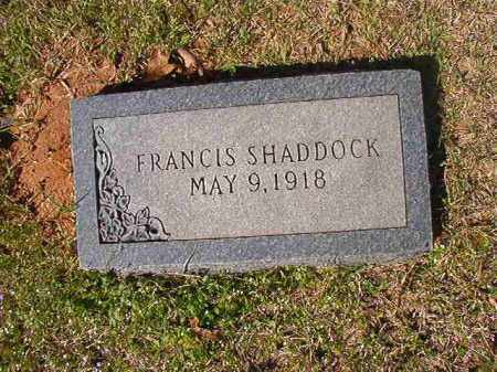 SHADDOCK, FRANCIS - Dallas County, Arkansas | FRANCIS SHADDOCK - Arkansas Gravestone Photos
