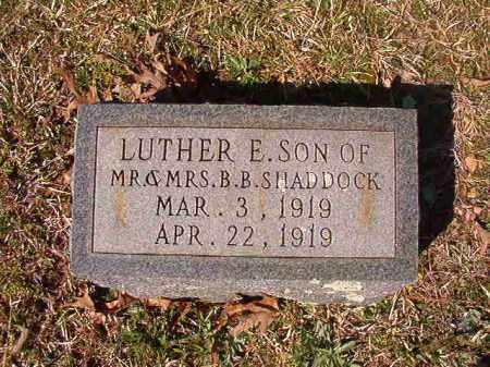 SHADDOCK, LUTHER E - Dallas County, Arkansas | LUTHER E SHADDOCK - Arkansas Gravestone Photos